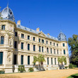 Stock Photo: Elaborate building of Jerez riding school in spain