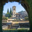 Gardens of Alhambra Palace in Granada - Stockfoto