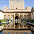 Ancient tower in the Alhambra Palace in spain — Stock Photo