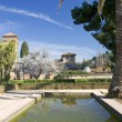 Gardens of Alhambra Palace in Granada - Stock Photo