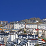 Main town square of Prodollano in Spain — Stock Photo