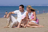 Young attractive family on vacation in Spain — Stock Photo