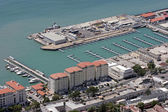 Aerial view of new harbour in Gibraltar, Europe — Stock Photo