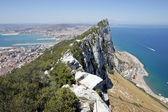 Weergave van tip van rots van gibraltar — Stockfoto