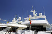 Luxury white yachts moored close to each other in Spain — Stock Photo