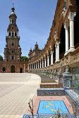 Plaza de Espana in Seville, Andalucia, Spain — Stock Photo