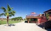 Playa Serena golf clubhouse on the Costa del Almeria — Stock Photo