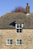 Traditional stone clad house in Corfe, Dorset — Stock Photo