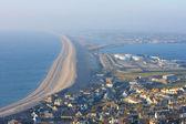 Chesil beach near portland in Weymouth Dorset — Stock Photo