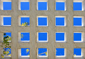 Abstract bright blue squares of modern architecture — Stock Photo