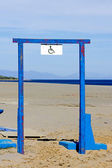 Disabled sign on steel blue frame — Стоковое фото