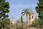 Aussenansicht der Alhambra Palast in granada — Stockfoto