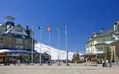 Town square of Prodollano ski resort in Spain — Stock Photo