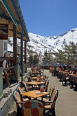 Town restaurant of Prodollano ski resort in Spain — Stockfoto