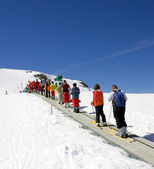 Ski slopes of Prodollano ski resort in Spain — Stock Photo