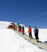 Ski slopes of Prodollano ski resort in Spain — Stock Photo