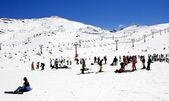 Prodollano kayak merkezi i̇spanya'nın kayak tesisi — Stok fotoğraf