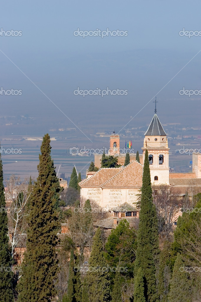 Beautiful views of the ancient Alhambra Palace in Granada on the Costa del Sol in Spain — Stock Photo #6232294