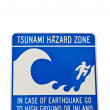 Tsunami Hazard Sign — Photo