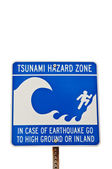 Tsunami Hazard Sign — Stock Photo