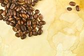 Freshly roasted whole coffee beans — Stock Photo