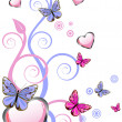 Hearts and butterflies — Stock Vector #5770051