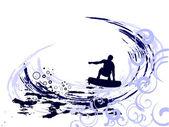 Verão - surf — Vetor de Stock