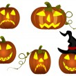 Halloween pumkins — Stock Vector