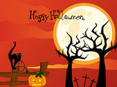 Cartel de halloween — Vector de stock