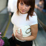 Girl in the metro. — Stock Photo