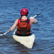 Man in a kayak — Stock Photo #5860388