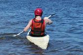 Man in a kayak — Stock Photo