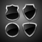 Set of vector shields — Stock Vector