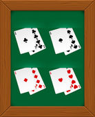 Poker cards — Vector de stock