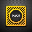 Push button. - Stock Vector