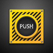 Push button. — Stock Vector