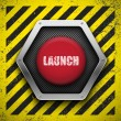 Stock Vector: Launch button.