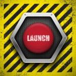 Launch button. — Stock Vector