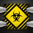 Stock Vector: Biohazard sign.