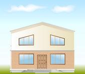 Nieruchomości na sprzedaż. fasada wektor — Wektor stockowy