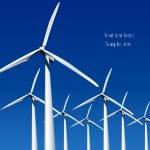 Wind Generators. Vector illustration — Stock Vector #5682458