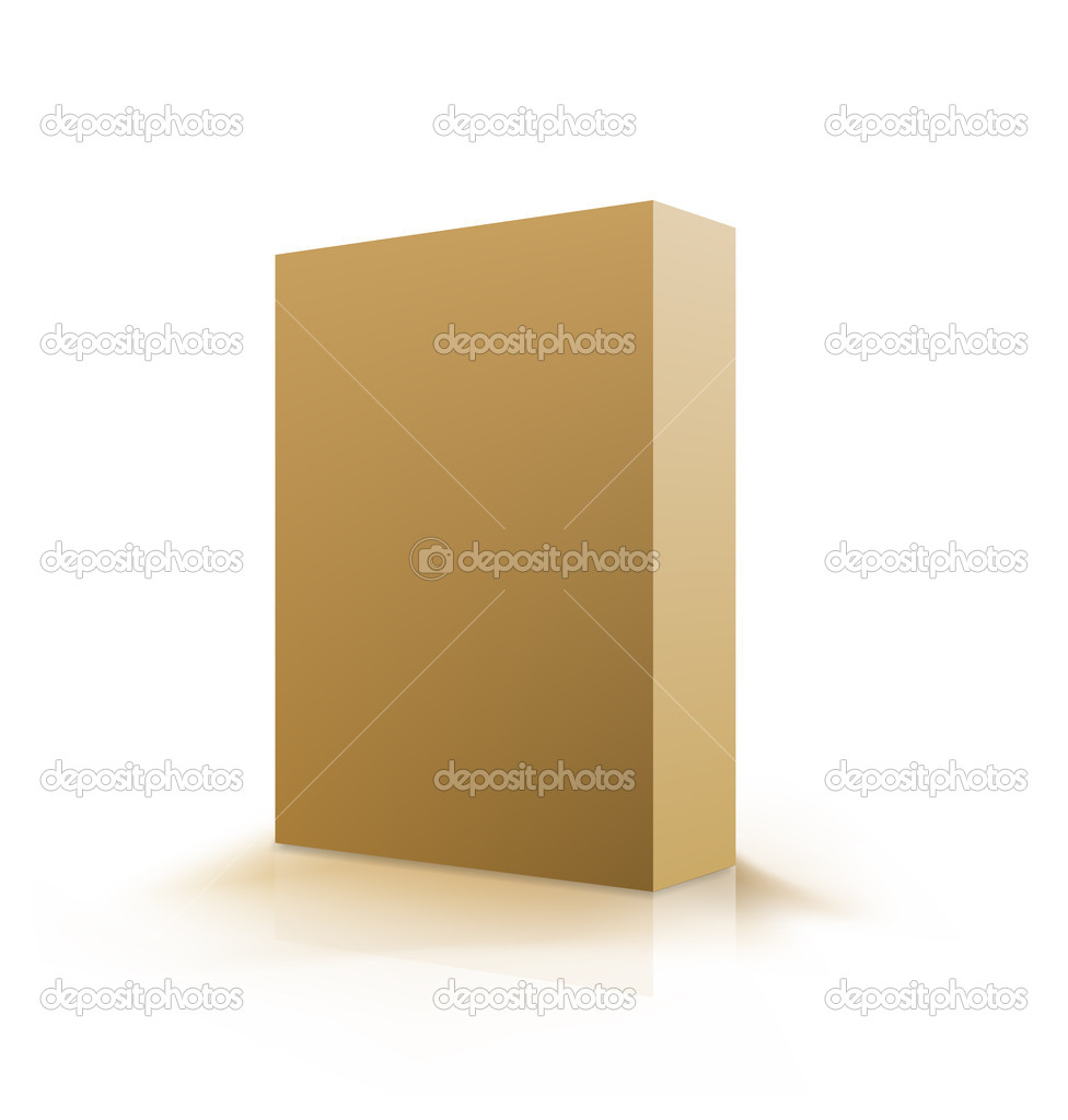Box beige. Vector illustration on white over  Stock Vector #5744737