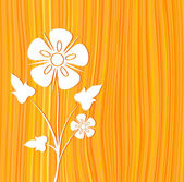 白花橙色矢量 — 图库矢量图片