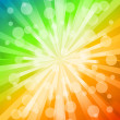 Royalty-Free Stock Vector Image: Rainbow lines with circle. Vector