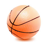 Basketball ball isolated on white. Vector — Stockvektor