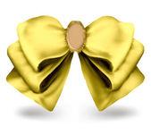 Golden bow. Vector — Stock Vector