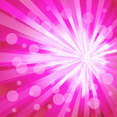 Pink ray background. Vector — Stock Vector