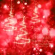 Shining Christmas tree with golden sparkles - Imagen vectorial