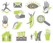 Impostare l'icona creativa. vector — Vettoriale Stock