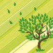Royalty-Free Stock Vector Image: Tree on green background. Vector